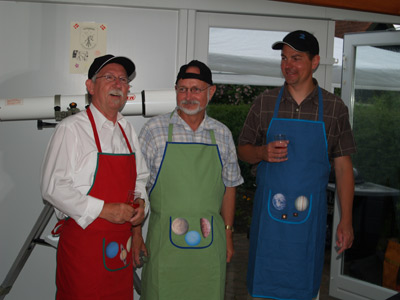 Tre udpegede grilmestre konkurrerede om en grilmesterpris